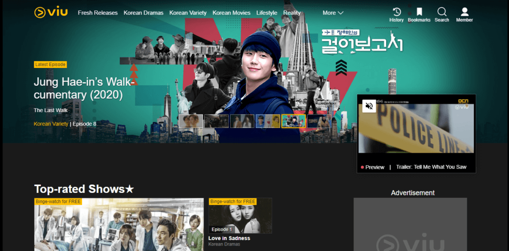 Best Samsung Smart TV Apps - Viu Homepage