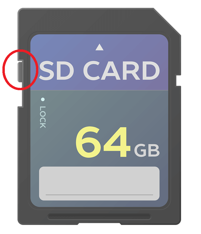SD Card Write-Protect Tab - Recover Corrupted SD Card