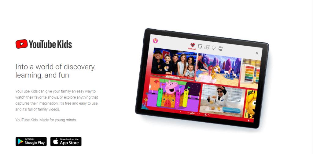 Best Samsung Smart TV Apps - Youtube Kids Homepage