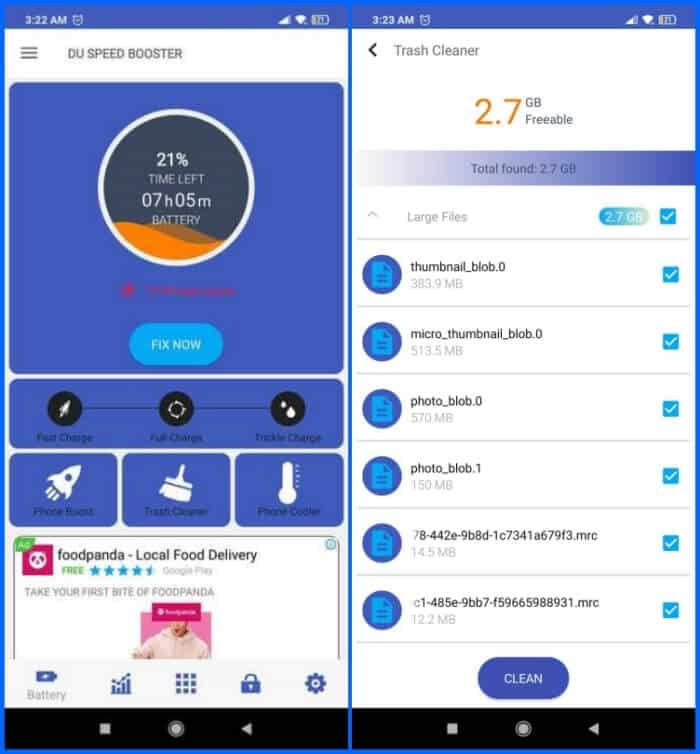 Best Phone Cleaner Apps for Android - DU Speed Booster