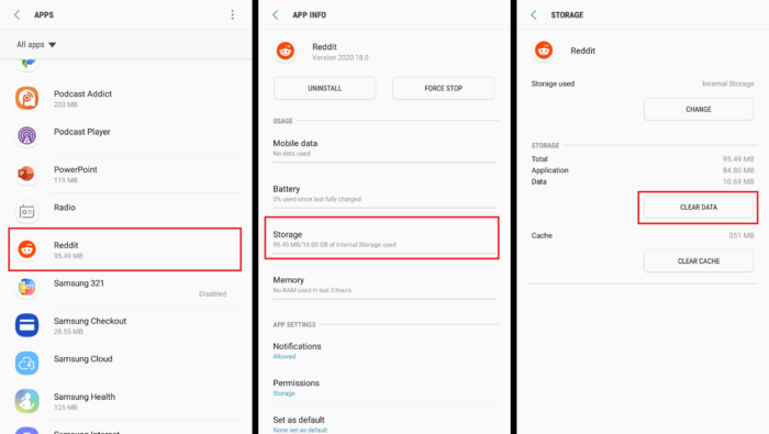 How to Clear App Data