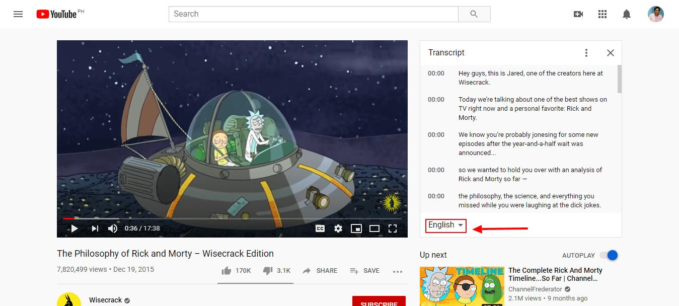 كيفية نسخ ملفات فيديو يوتيوب - اللغة