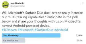 JoyofAndroid poll