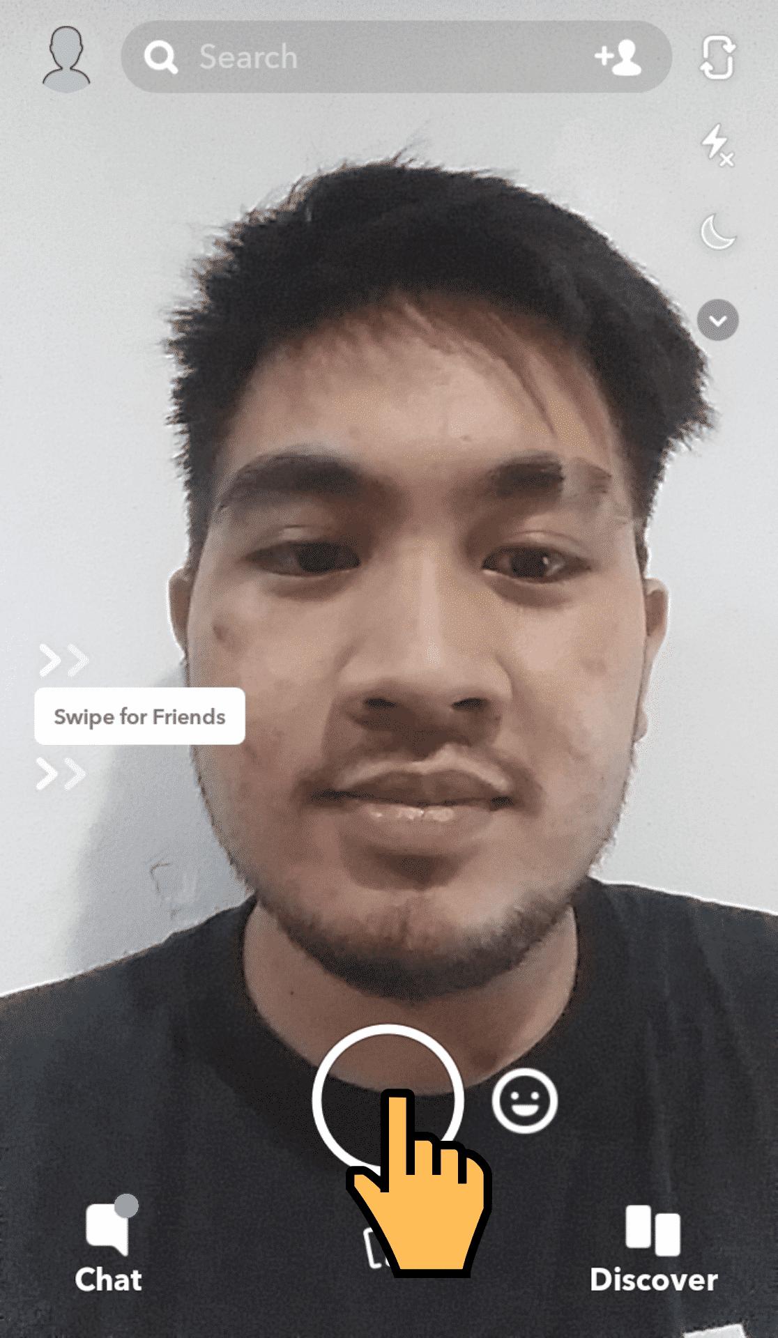 Snapchat Front Camera Mode