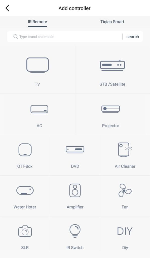 Universal Remote Apps for Android - ZaZa Remote - Devices