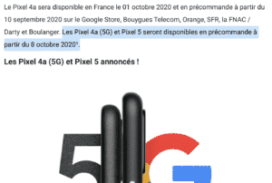 Google France accidentally revealed the pre-order date of the Pixel 5