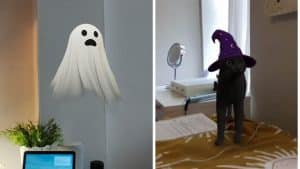 The Halloween creatures come to life