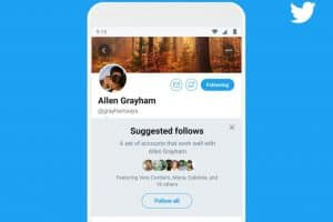 Twitter is working on anew feature on Android devices –– Grouped follow