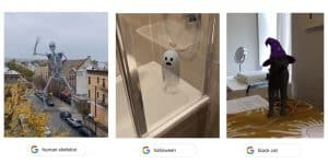 3D Halloween creatures on Google Search