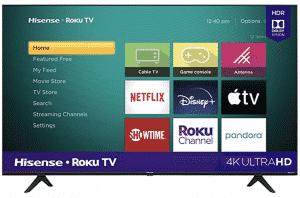 Hisense 50-inch Roku 4K UHD Smart TV