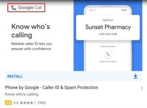 Phone app gets a new name and new icon –– now called Google Call