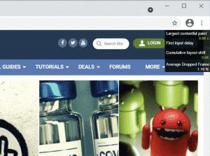 The built-in HUD in Google Chrome