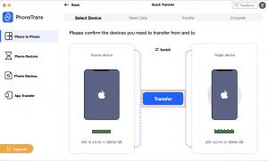 Step 3: Start transfer process