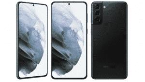 Three-rear camera setup of the Galaxy S21 Plus model