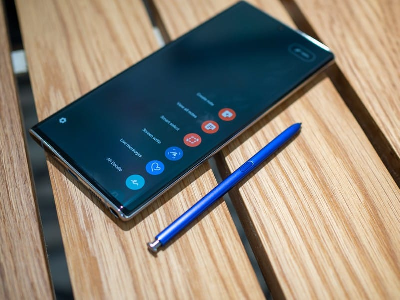 Samsung Note series with the S Pen