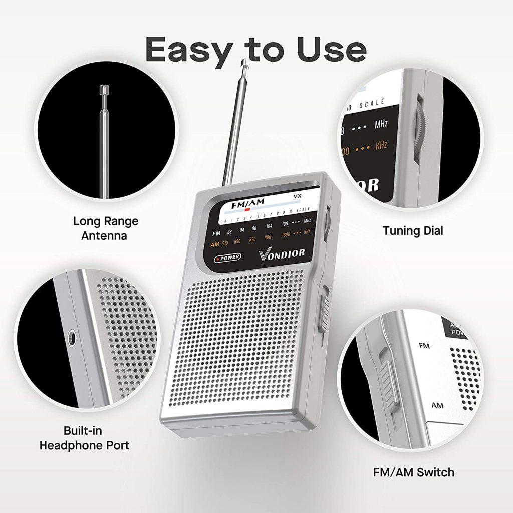 Battery-operated radio