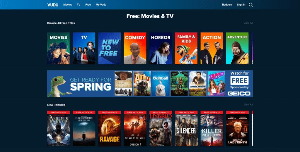 Alternative for Netflix Vudu