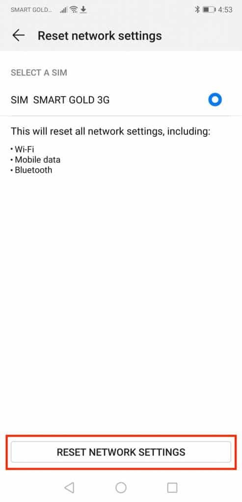 Easy steps to reset network settings on Android