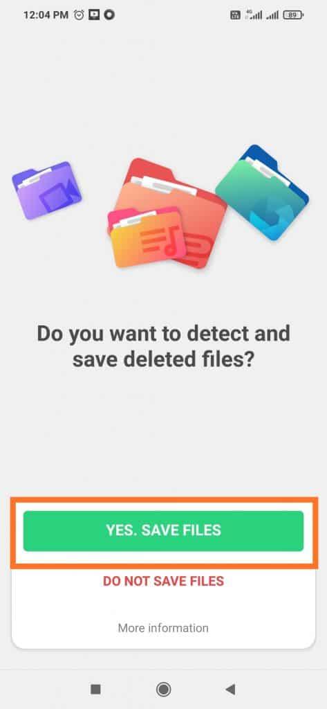 Confirm file saving