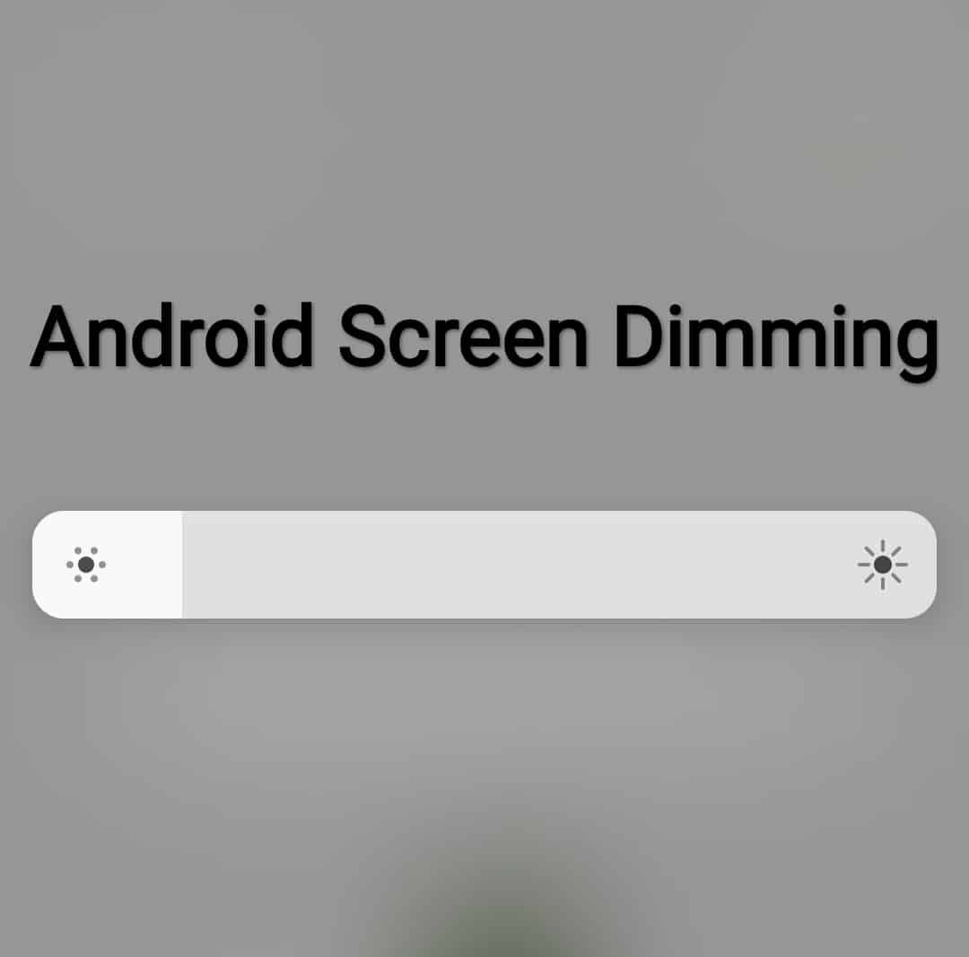 stop android screen from dimming