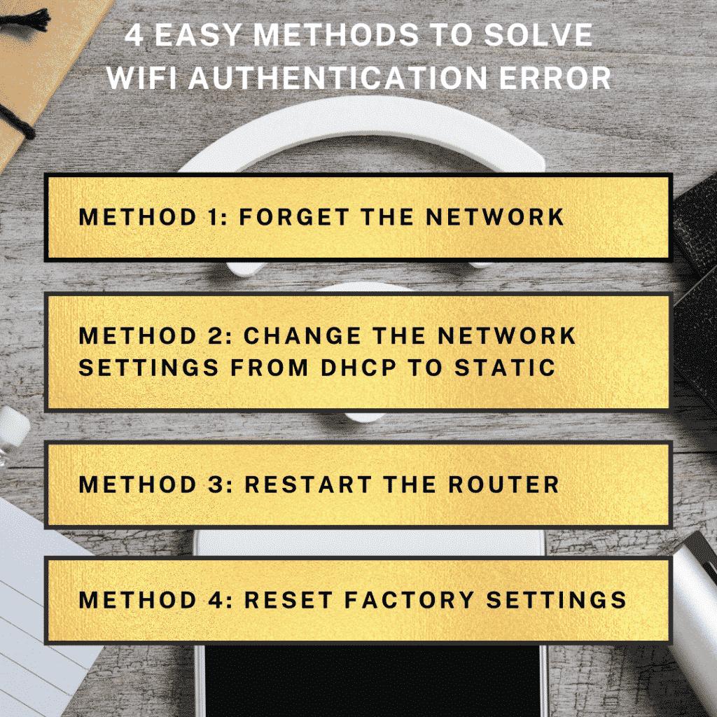 4 methods to solve wifi authentication error