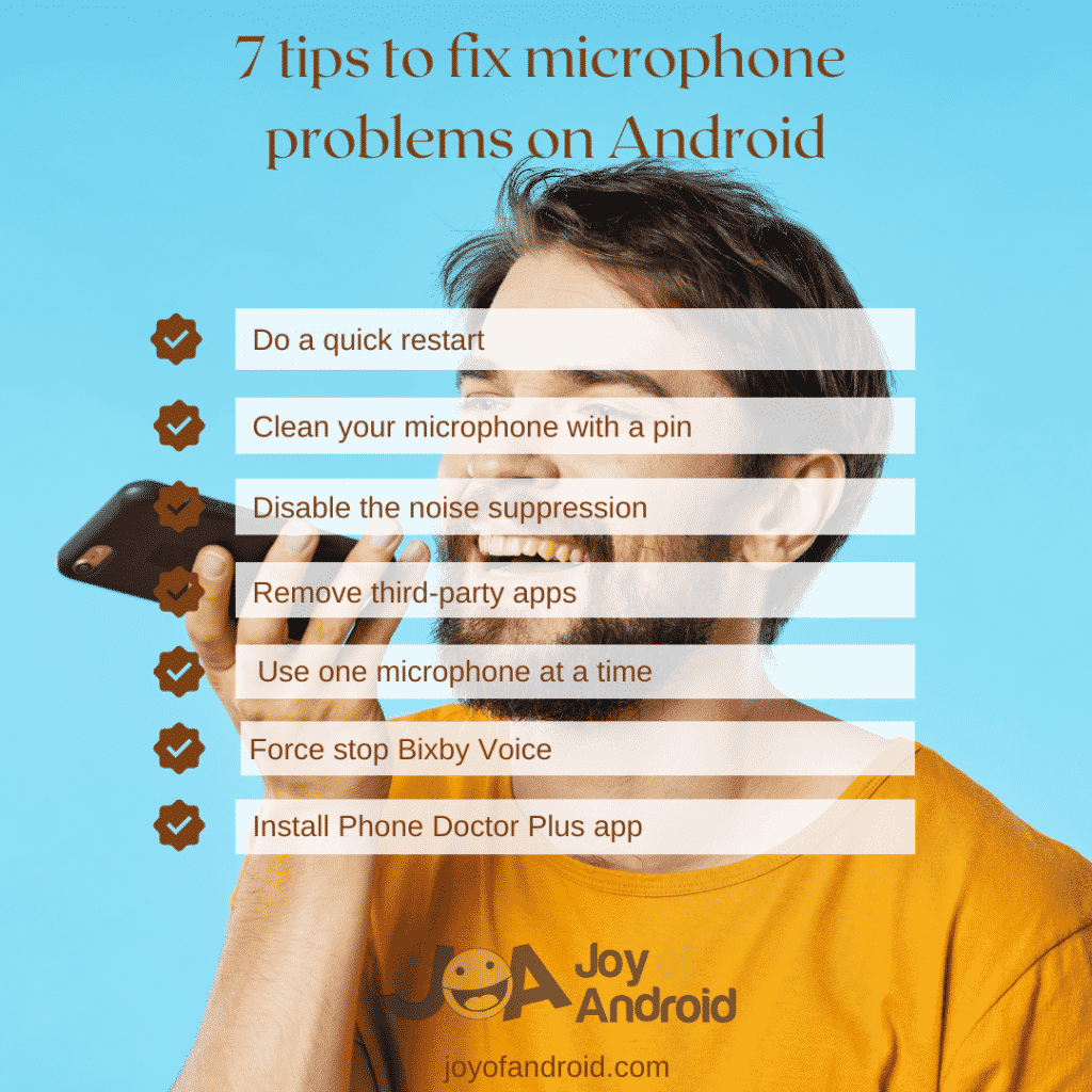 tips to fix Android microphone problems