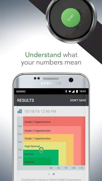 Qardio Heart Health (Blood Pressure Measuring App)