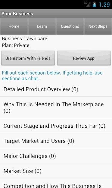 screenshots from Entrepreneur Business Ideas - Tools & Tutorials app