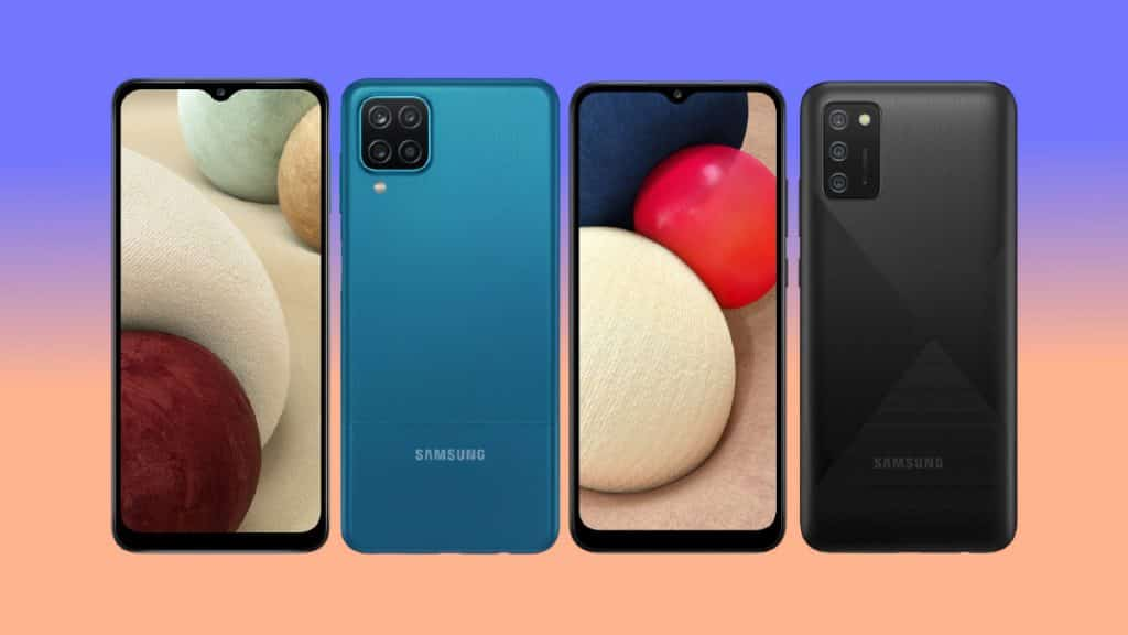 Galaxy A12 and Galaxy A02s -- end of the spectrum