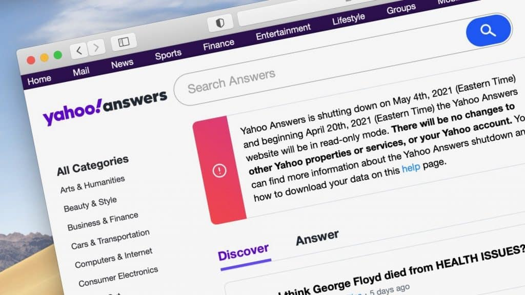 RIP Yahoo! Answers –– after 16 years