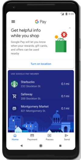 Use Google Pay nearby