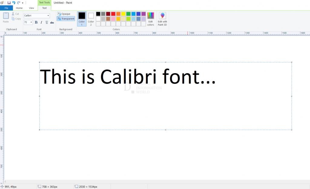 Calibri's short history