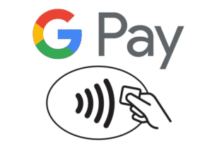 Google Pay and contactless symbols