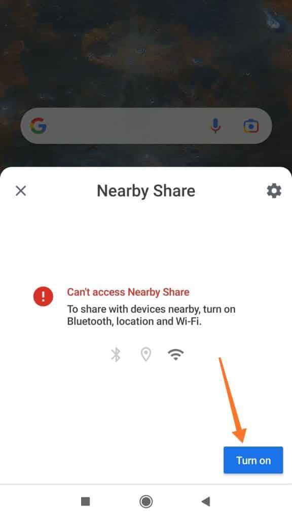 turn on location, bluetooth, wifi