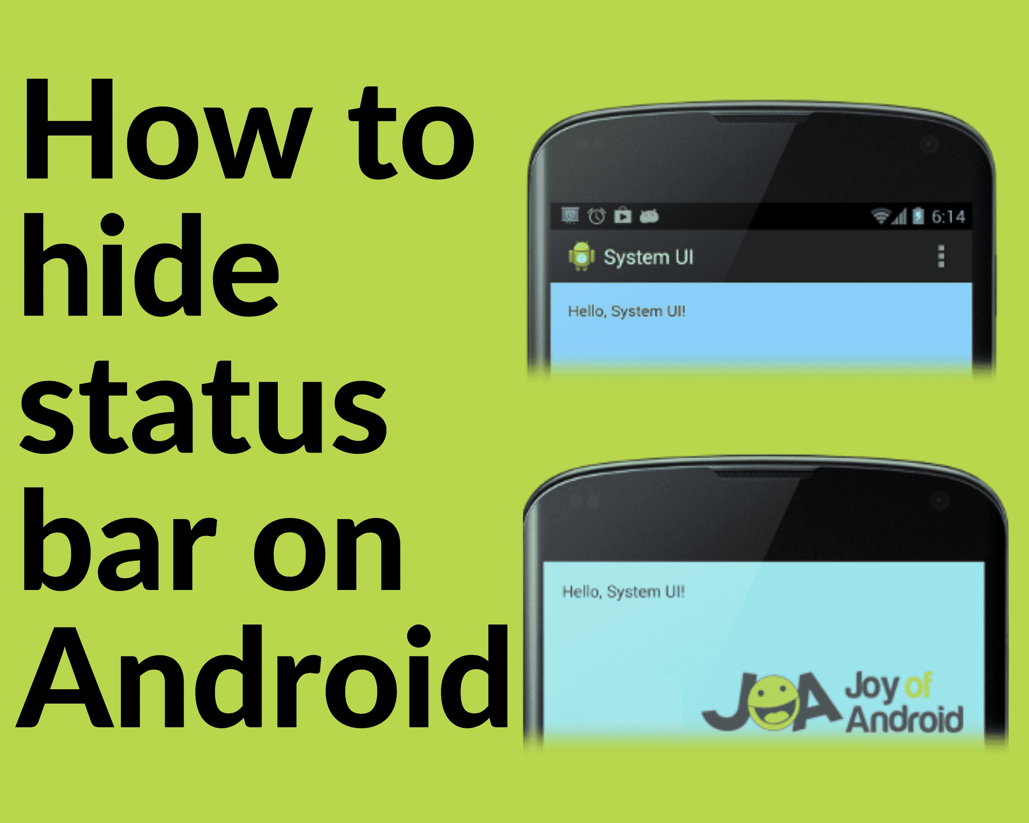 hide status bar on android