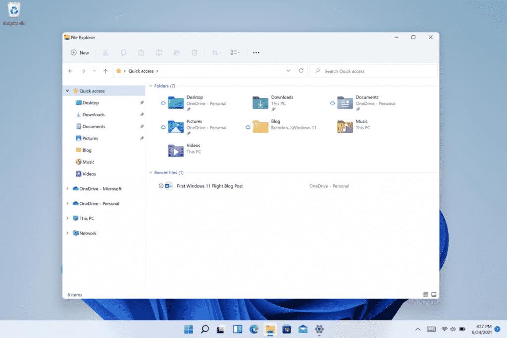 Windows 11 File Explorer (Photo courtesy: Microsoft)
