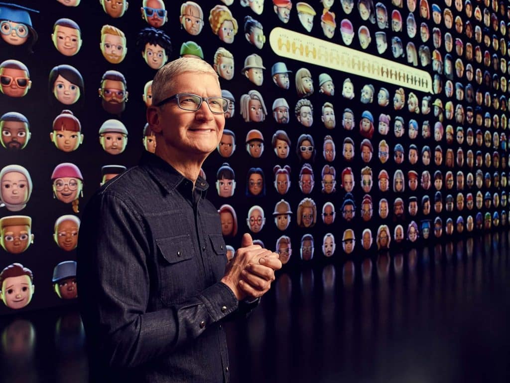 Apple CEO Tim Cook during the recent WWDC 2021