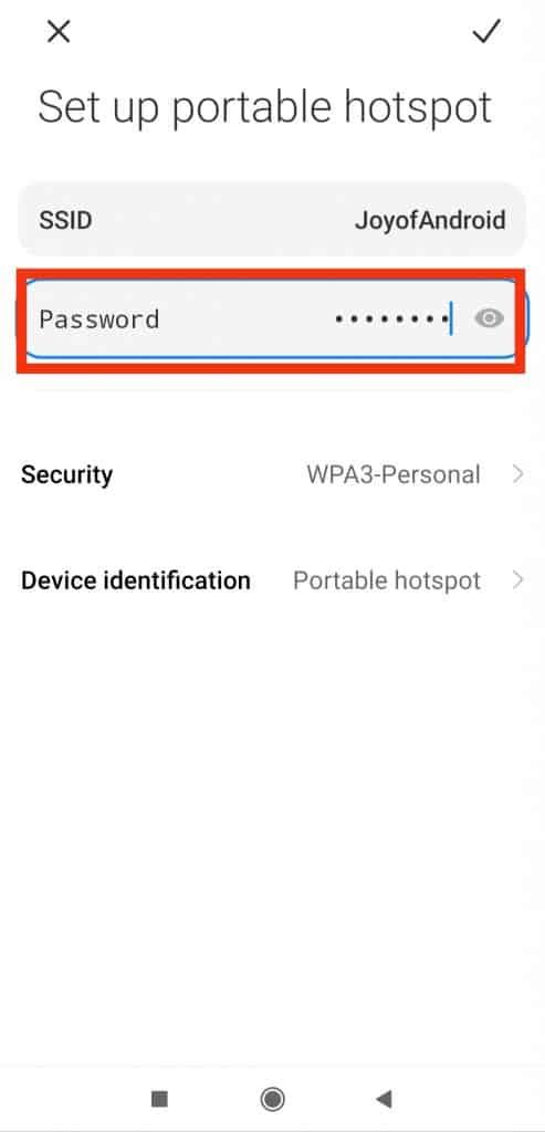 change hotspot password