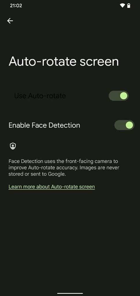 Enhanced auto-rotate feature