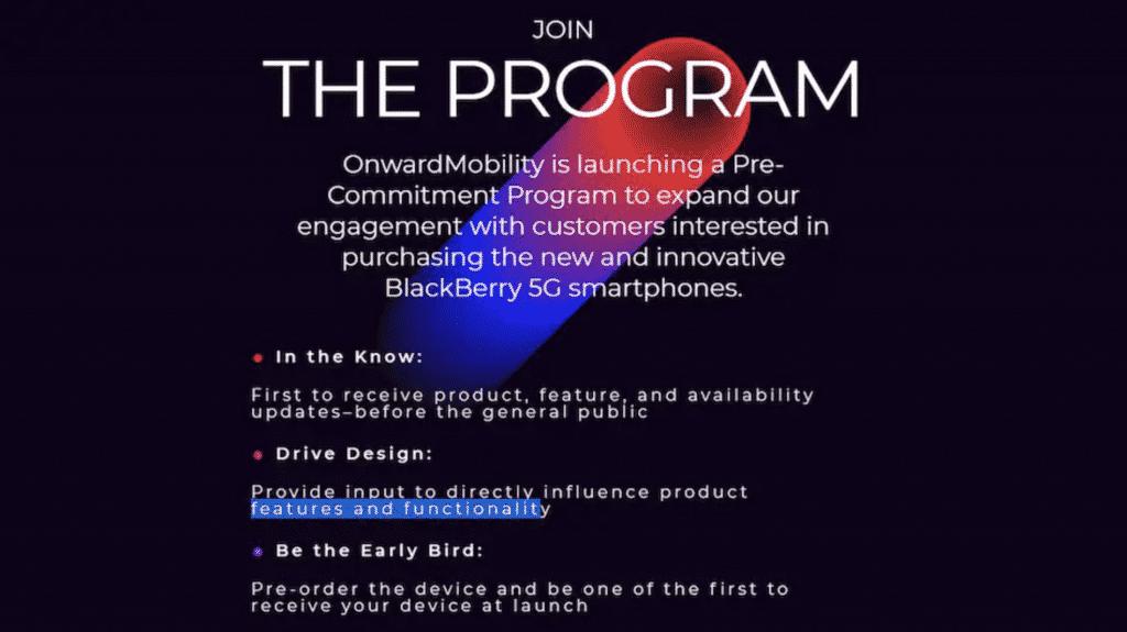 OnMobility's pre-commitment program