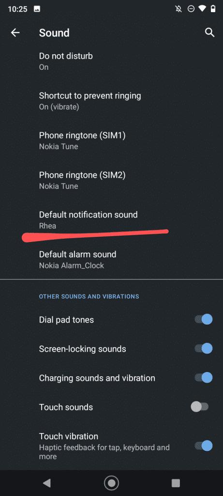 default notification sound