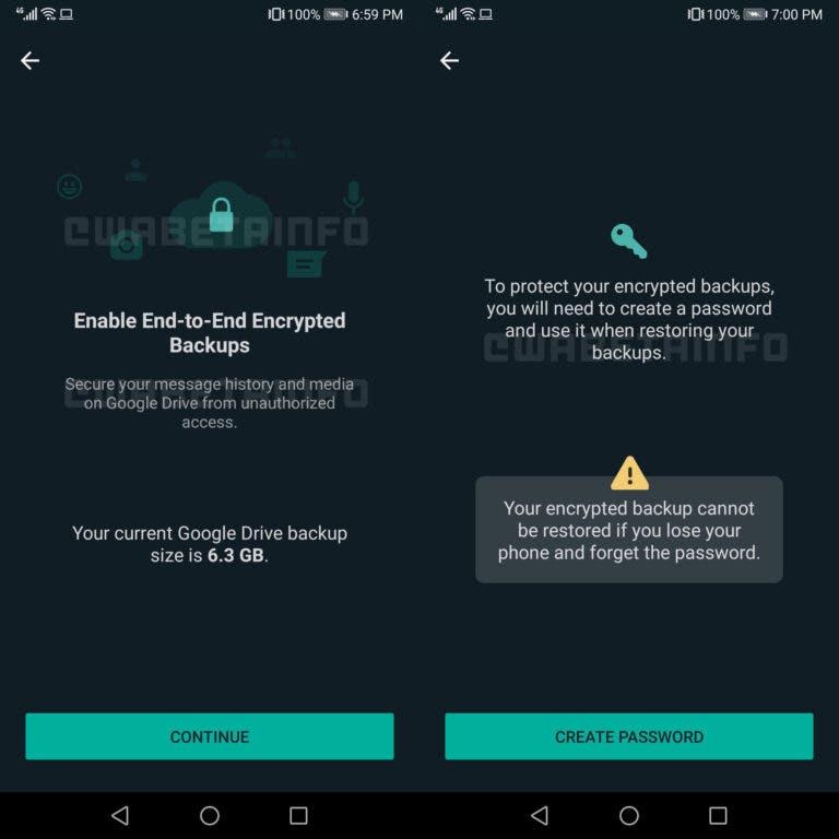 WhatsApp's cloud backup encryption (Photo credits: WABetaInfo)