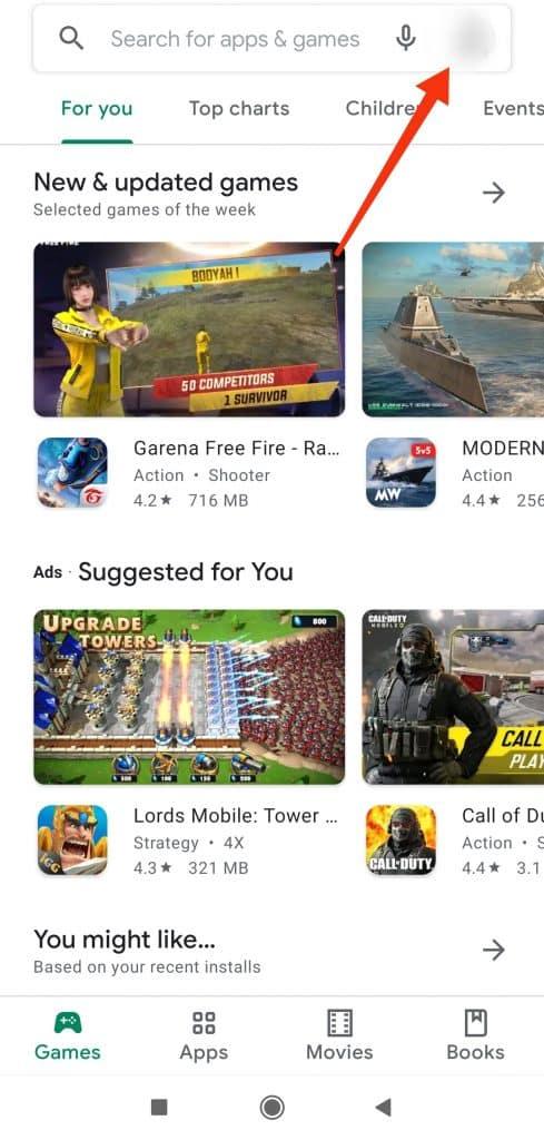 google play profile icon