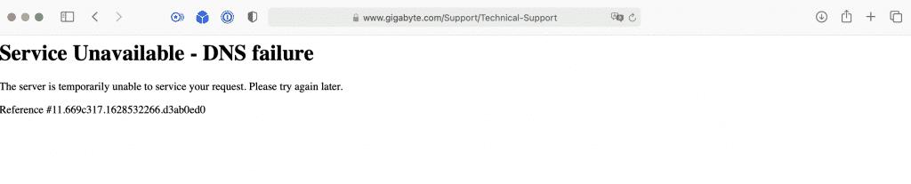 Some parts of Gigabyte's website