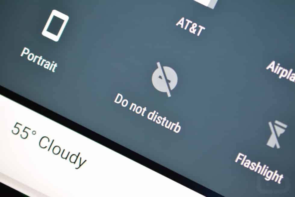 Toggle 'Do Not Disturb' on Android