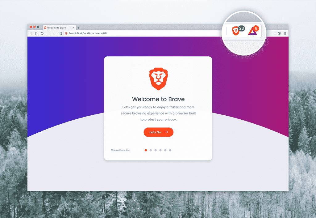 Brave browser privacy settings