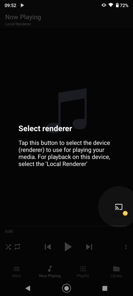 cast button to choose device to connect