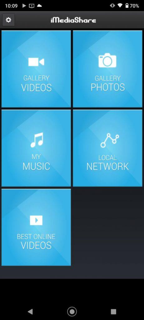 iMediaShare homepage