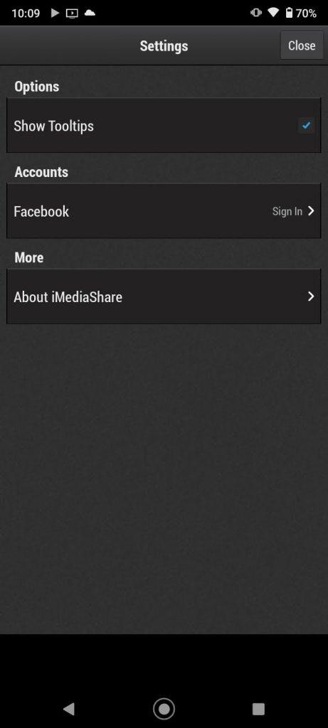 iMediaShare Settings